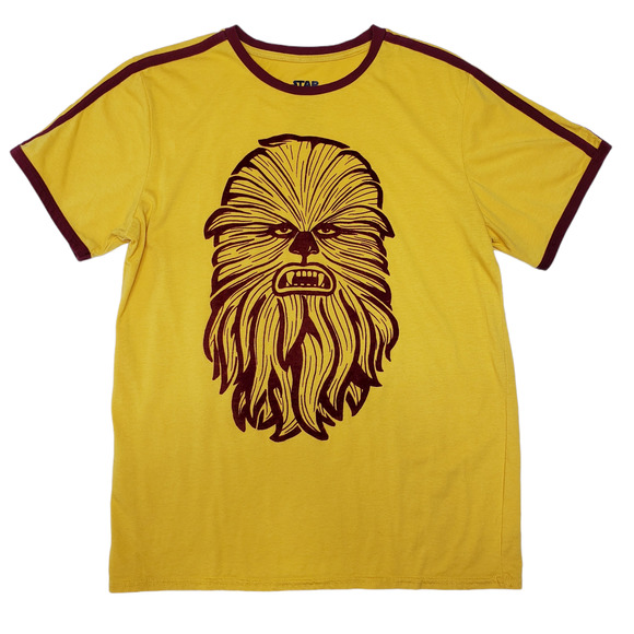 Star Wars Mens TShirt Chewbacca Yellow Large